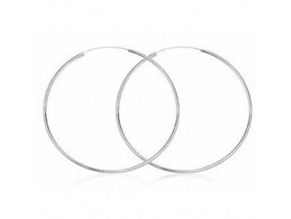 NA9719SS kruhy damske strieborne nausnice 6cm
