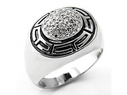 PR4200ZSSR strieborny prsten so zirkonmi