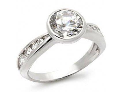 PR4205ZSSR strieborny prsten so zirkonmi