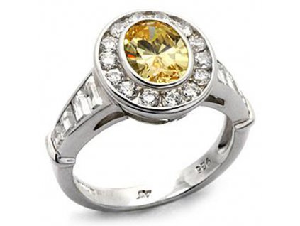 PR4208ZSS strieborny prsten so zirkonmi
