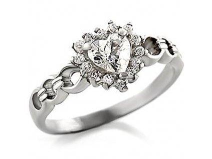 PR4209ZSS srdiecko strieborny prsten so zirkonmi