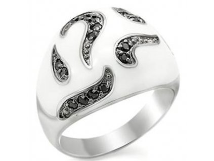PR4214ZSSR strieborny prsten so zirkonmi