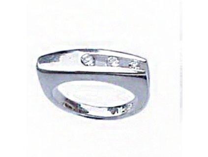 PR4247ZSS strieborny prsten so zirkonmi