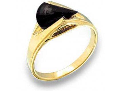 PR3137ZG prsten s cz kristalom ciernym