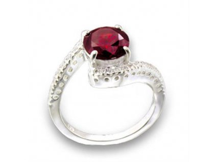 PR4258ZSS strieborny prsten so zirkonom