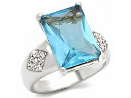 PR0452ZSS strieborny prsten so zirkonom