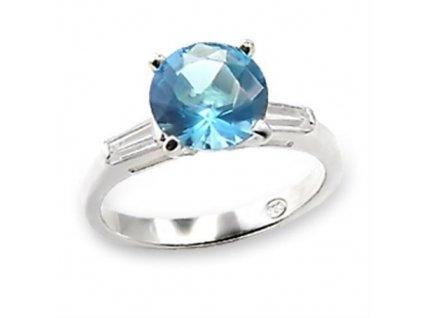 PR4275ZSS strieborny prsten so zirkonmi