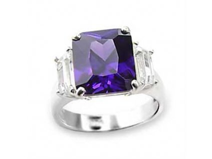 PR4277ZSS strieborny prsten so zirkonmi