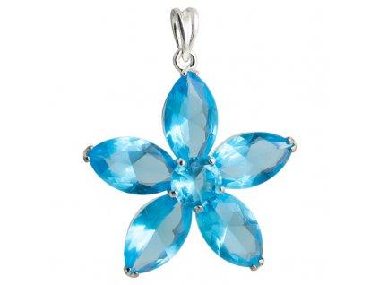 PV0155ZS privesok modry kvet so zirkonmi