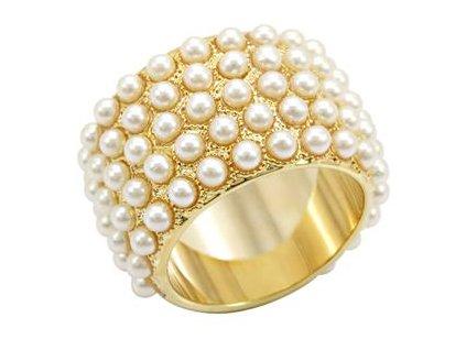 PR4323PG - Prsteň so syntetickými perlami