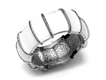 PR1236OC prsten z chirurgickej ocele biely