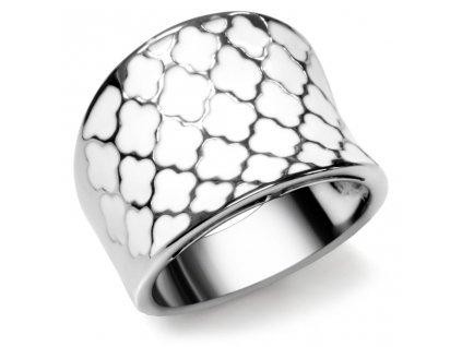 PR1237OC biely prsten z chirurgickej ocele