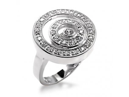 PR0266ZR rhodiovany prsten zirkony