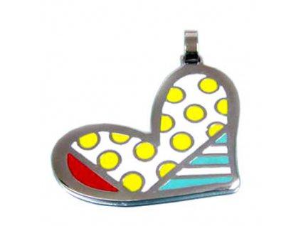 PV3237OC srdce farebny privesok z ocele