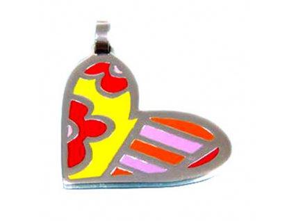PV3238OC srdce farebny privesok z ocele