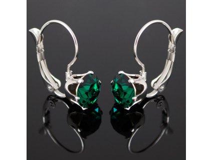 NA3892SWOC emerald swarovski nausnice zelene