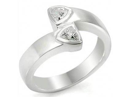 PR4333ZSS strieborny prsten so zirkonmi