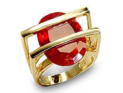 PR0355ZSSG strieborny prsten so zirkonom