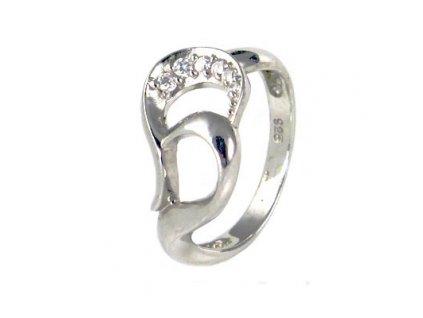 PR4370ZSS - Strieborný prsteň so zirkónmi