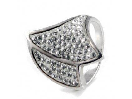 PR4372SWSS strieborny prsten swarovski
