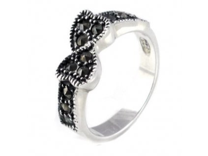 PR4374ZSS strieborny prsten so zirkonmi