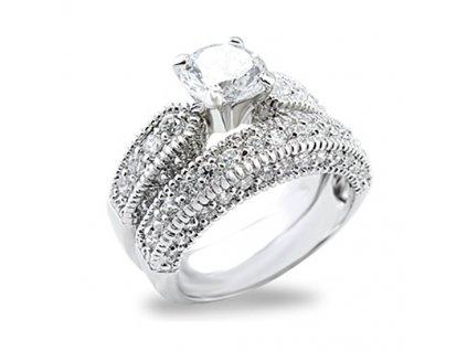 PR0322ZR dvojity prsten so zirkonmi