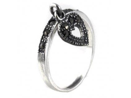 PR4376ZSS jemny strieborny prsten so zirkonmi