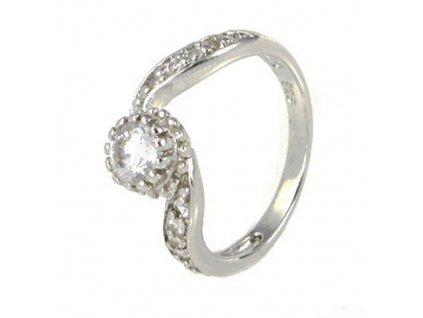 PR4382ZSS strieborny prsten so zirkonmi