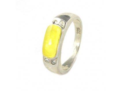 PR4385ZSS strieborny prsten syntetika