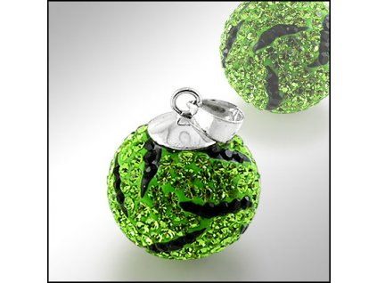 PV7062SWSS zeleno cierna swarovski gulka privesok