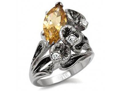 PR1333ZOC prsten z chirurgickej ocele zirkony