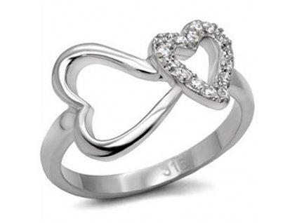 PR1336ZOC prsten z chirurgickej ocele srdiecka