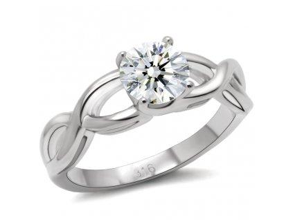 PR1338ZOC prsten z ocele zirkon