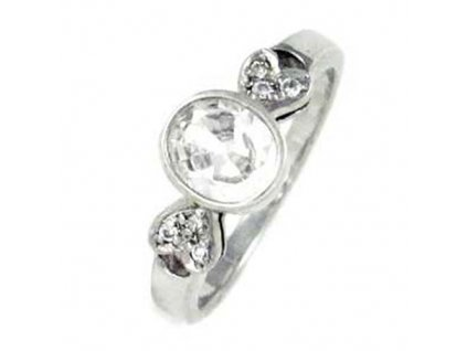 PR4411ZSS strieborny prsten so zirkonmi