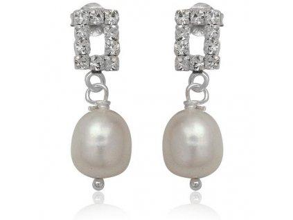 NA0238ZPSS strieborne nausnice zirkony perly