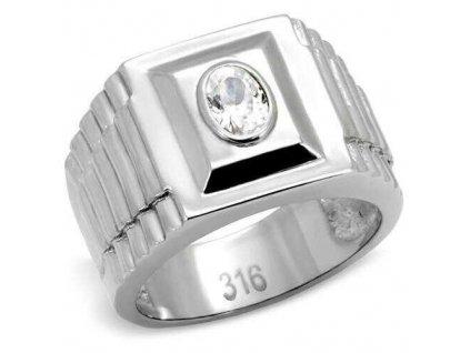 PR6007ZOC ocelovy pansky prsten