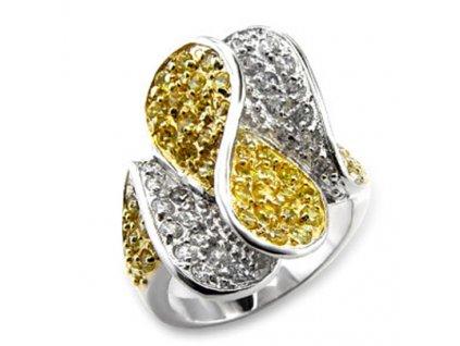 Prsten so zirkonmi PR0319ZGR