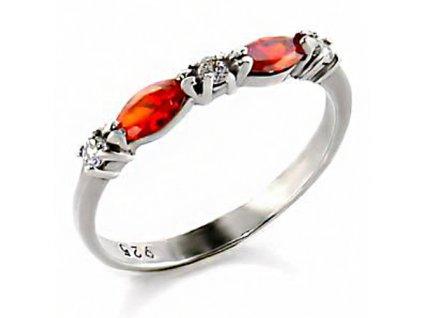 PR4458ZSS strieborny prsten so zirkonmi