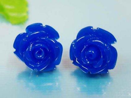 NA3385OC modre ruze nausnice z chirurgickej ocele