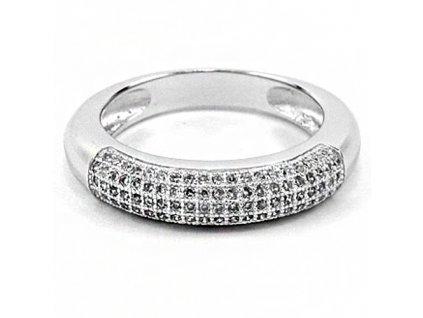 PR4460ZRSS strieborny prsten so zirkonmi