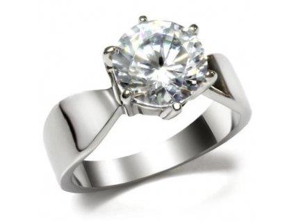 PR1361ZOC ocelovy prsten so zirkonom