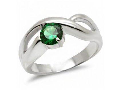 PR4474ZSS strieborny prsten so zirkonom