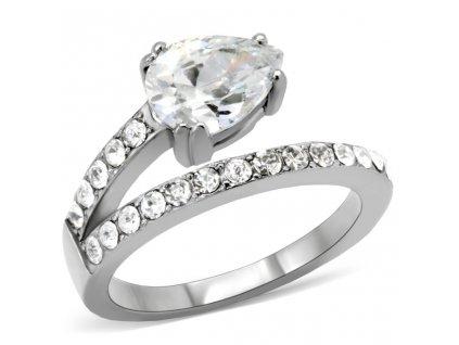 PR6015ZOC ocelovy prsten so zirkonmi