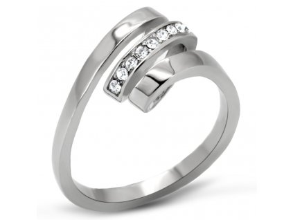 PR6022ZOC ocelovy prsten so zirkonmi