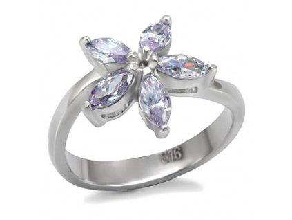 PR6023ZOC kvietok prsten z chirurgickej ocele