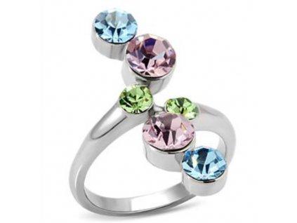 PR6028ZOC ocelovy prsten so zirkonmi