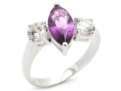 PR0555ZSS strieborny prsten so zirkonmi