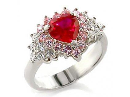 strieborny prsten srdce