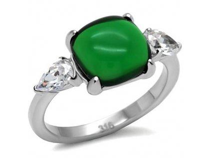 PR6036ZOC - Oceľový prsteň so zirkónmi