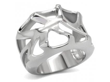 PR6042OC ocelovy prsten dizajnovy